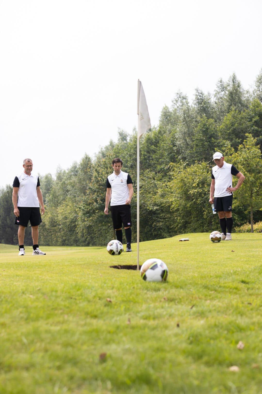 Uitholen op de 18-holes FootGolfbaan bij Tespelduyn